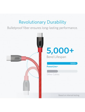 Anker Powerline+ USB-C to USB-A 3.0 3ft UN Red V3