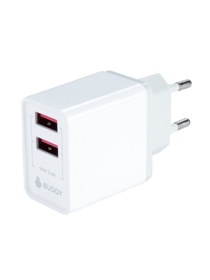 Buddy Home Double port 2.4A Fast Charger + Micro-USB Cable