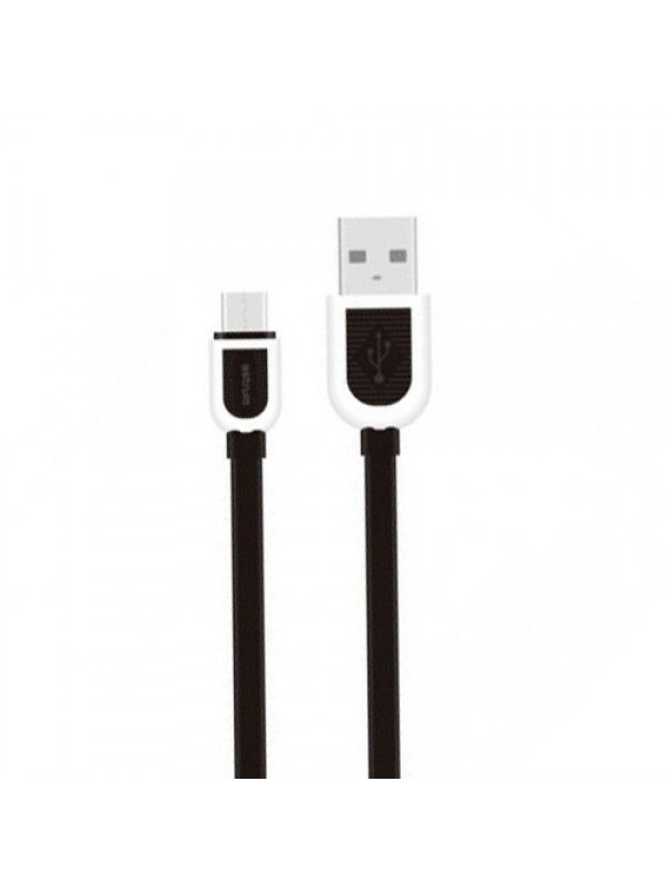 Astrum Cable Micro USB Charge Flat cable Black-White