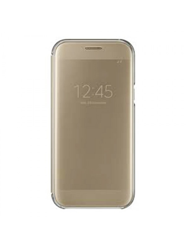 Samsung Clear View  Cover A5 2017 Gold