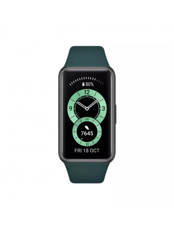 HUAWEI Band 6 Forest Green Silicone Strap Channel