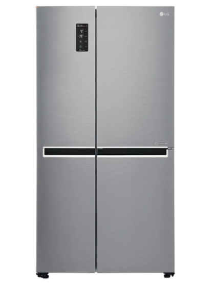LG - Refrigerator (Inverter Linear Compressor-LINEAR Cooling-DoorCooling-Touch LED Display- Multi Air Flow-Trimless Tempered Glass Shelf 2-Humidity Controller-LED Panel Lighting-Smart ThinQ&Diagnosis?)
