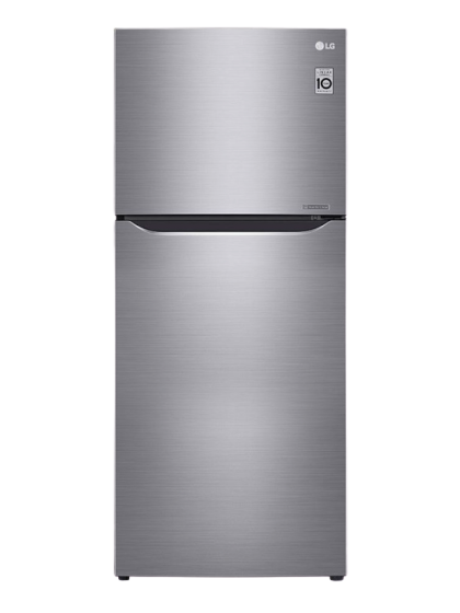 LG - Refrigerator (333L/312L-Platinuim Silver 3-TopFreezer-Indonesia-Bar Handle LINEAR Cooling DoorCooling+ Multi Air Flow Pull-out Tray Big Deodorizer