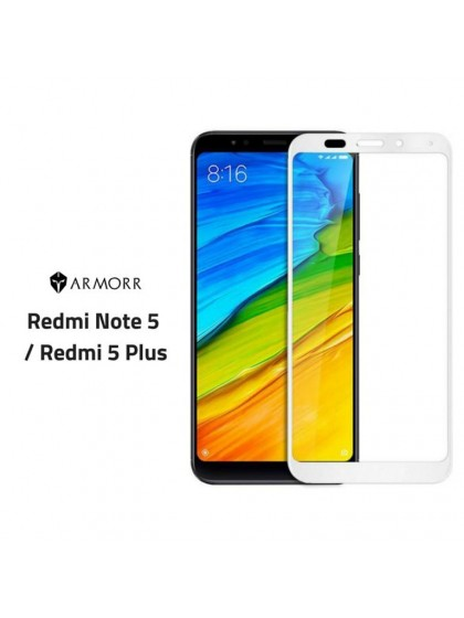 Armor 5D Tempered Glass Redmi Note5 White